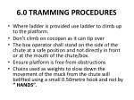 6 0 tramming procedures