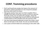 cont tramming procedures1