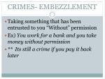 crimes embezzlement