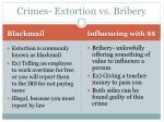 crimes extortion vs bribery