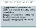 crimes types of theft