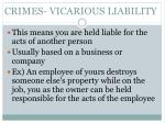 crimes vicarious liability