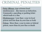 criminal penalties