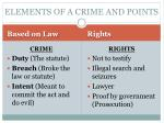 elements of a crime and points