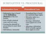 substantive vs procedural