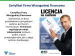 certyfikat firmy wiarygodnej finansowo2