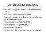 criterios simplificados