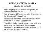 riesgo incertidumbre y probabilidades