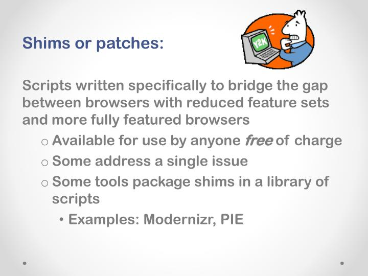 Shims or patches: