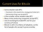 current uses for bitcoin