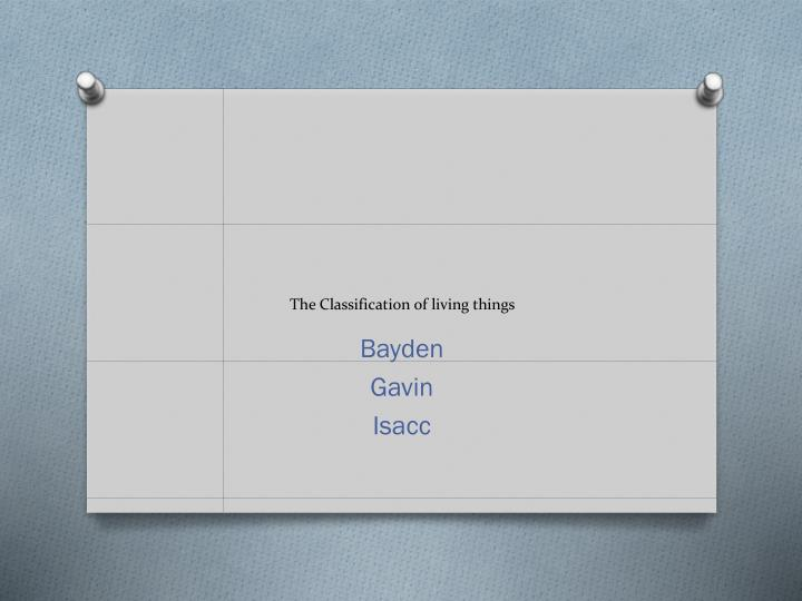 the classification of living things n.