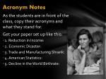 acronym notes