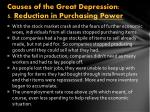 causes of the great depression 5 reduction in purchasing power