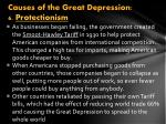 causes of the great depression 6 protectionism