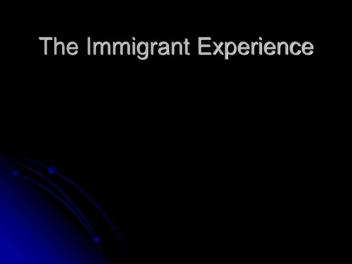 the immigrant experience n.