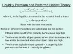 liquidity premium and preferred habitat theory