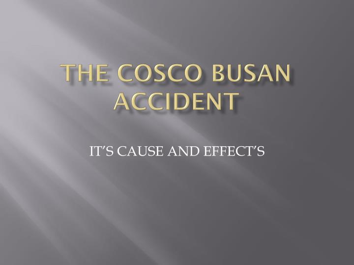the cosco busan accident n.
