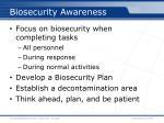 biosecurity awareness
