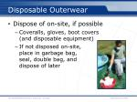 disposable outerwear