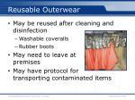 reusable outerwear