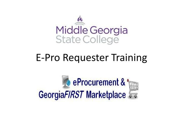 e pro requester training n.