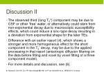 discussion ii