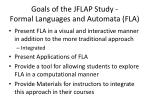 goals of the jflap study formal languages and automata fla