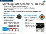stitching interferometry 3d map