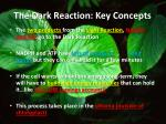 the dark reaction key concepts1
