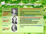 understanding photosynthesis