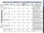 an lisis de ndices y razones financieras1