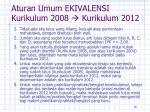 aturan umum ekivalensi kurikulum 20 08 kurikulum 20 12