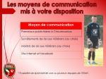 les moyens de communication mis votre disposition