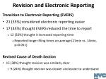 revision and electronic reporting