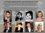 actors associates an introduction