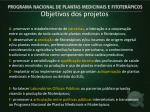 objetivos dos projetos