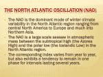 the north atlantic oscillation nao