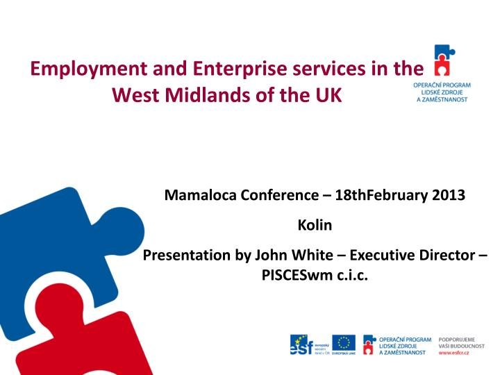 Employment and Enterprise services in the West Midlands of the UK