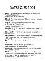 dates cles 2009