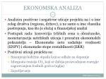 ekonomska analiza