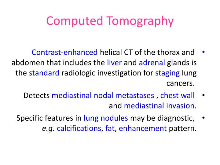 computed tomography n.