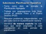 subsistema planificaci n operativa