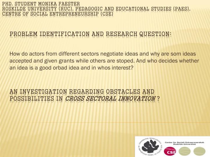 an investigation regarding obstacles and possibilities in cross sectoral innovation n.