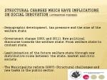structural changes which have implications on social innovation litterature findings