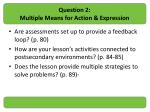 question 2 multiple means for action expression