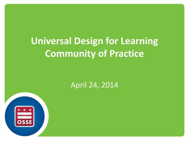 universal design for learning community of practice n.