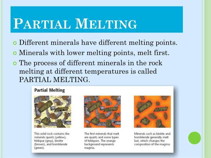 Partial Melting