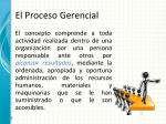 el proceso gerencial