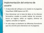 implementaci n del entorno de usuario