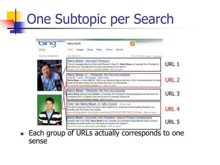 One Subtopic